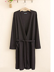 Bath Robe,High-class Terry Cotton Dark Grey Solid Colour Garment