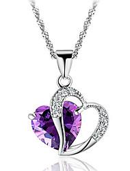 Collier avec pendentif diamant pourpre Honeybaby