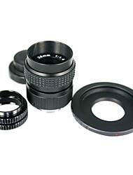 Noir 25mm f/1.4 Objectif CCTV pour Fuji FX + C mont Fuji FX adaptateur 2 Rings Macro