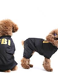 FBI Weste mit Hose für Hunde (XS-XL, Schwarz)