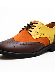 JPW Heren Contrast Color Genuine Leather Shoes