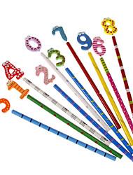 Zehn Einheit Nummer-Stil aus Holz Multi-Color Holzcase Bleistift