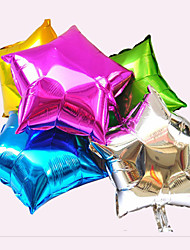 Star Aluminum Foil Balloons for Wedding/Birthday/Party - Set of 6 (More Colors)