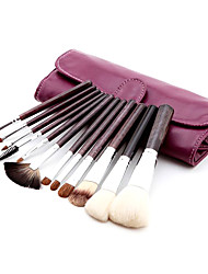 12pcs Sable Hair Professional Makeup Brushes Set