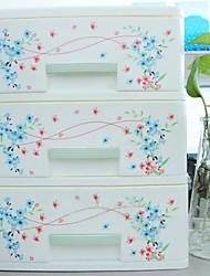 Modern 3 Layers Flowers Desktop Storage Cabinet