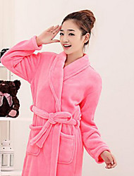 Bath Robe,High-class Woman Red Solid Colour Garment Thicken