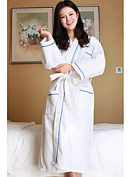 Bath Robe,Terry 100% Cotton Blue Waffle Garment
