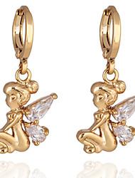Das yueli Mulheres ouro 18k zircão brincos ER0309