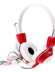 A61 Super-Bass Fones de ouvido estéreo com microfone para o computador Gamer