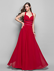 Formal Evening / Prom / Military Ball Dress - Ruby Plus Sizes / Petite Sheath/Column Halter Floor-length Chiffon