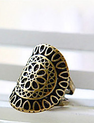 MISS U Women's Bronze Palace Carving Ring