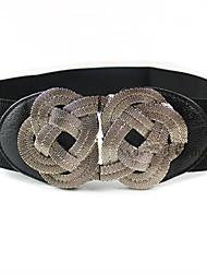 Rétro noeud chinois imitation cuir classique Lolita ceinture