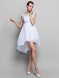 Homecoming Cocktail Party/Homecoming/Holiday Dress - White Plus Sizes Sheath/Column Scoop Short/Mini Chiffon/Lace