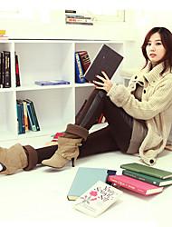 Calças de couro Newcomerland coreano cabido Bainha