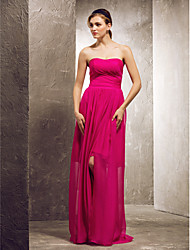 Prom / Formal Evening / Military Ball / Wedding Party Dress Sheath / Column Strapless / Sweetheart Floor-length Chiffon with Side Draping