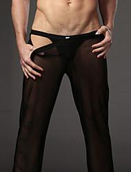 Pantalones de los hombres transparentes Pantalones Pantalones Sexy gasa para el hogar