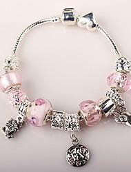 roze kralen armband voor vrouwen europese stijl handgemaakte kralen armbanden