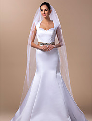 Wedding Veil Two-tier Cathedral Veils 98.43 in (250cm) Tulle White / Ivory A-line, Ball Gown, Princess, Sheath/ Column, Trumpet/ Mermaid