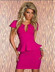 Women's Dresses , Polyester Party Hongmi