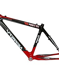 MB-NT102 MTB Bicycle Full Carbon Black+Red Frame with NEASTY Decal