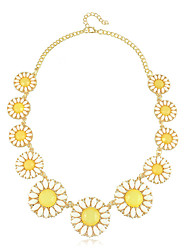 Korea Style Resin Rhinestone Flower Women's Necklace