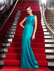 Formal Evening / Military Ball Dress - Jade Plus Sizes / Petite Sheath/Column Jewel Floor-length Taffeta