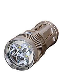 3 Gears Adjusted LED Flashlight(2700LM 4*18650 Gold)