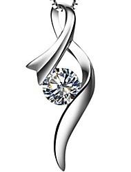 1 карат Шелковый Женщины SONA алмазных подвеска Белый позолоченный Отлично Cut
