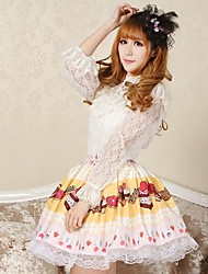 Women's Yellow Skirts , Cute/Party Knee-length