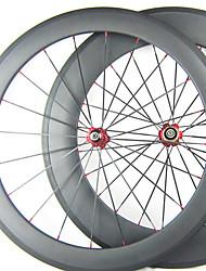 Larghezza di 25mm 700C Full Carbon 88 millimetri 60 millimetri anteriore posteriore copertoncino bici da strada / Ruote bici