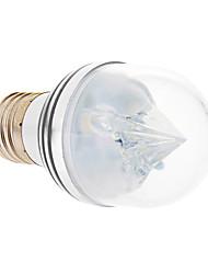 E27 3W 3xHigh Мощность 270LM 6500K Холодный белый свет Светодиодные лампы глобус - Серебряная гарантия (85-265В)