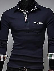 INMUR Herren: Freizeit-Marine-Blau-Fit POLO Shirts