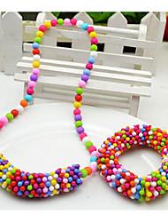 Bijoux Snowflake Set de fille (collier et bracelet) (couleur aléatoire)
