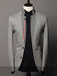 Men's Fashion Plover Inlays Color Ribbon Decoration Handsome Suit