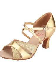 Sapatos de Dança Latina de Mulher em Courino (Várias Cores)