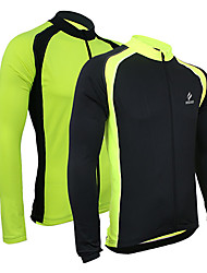 Arsuxeo Cycling Jersey Men's Bike Jersey Jacket Tops Breathable Thermal / Warm Quick Dry Front Zipper Sweat-wickingSpandex Polyester 100%
