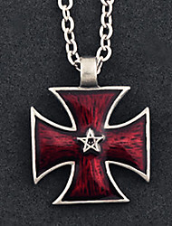 The Star of Power Red Alloy Gothic Lolita Necklace