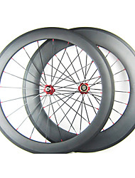 25mm Width 700C Full Carbon 60mm Front 88mm Rear Tubular Road Bike/Bicycle Wheelsets