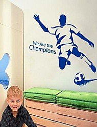 Football Man DIY Adhesive Removable Wall Decal  We are the Champions