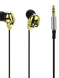 Petit Crâne High Performance In-Ear Super-Basse écouteurs pour MP3, MP4, téléphone mobile
