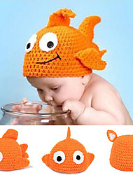 Knitting Goldfish Artesanato Cap Kid