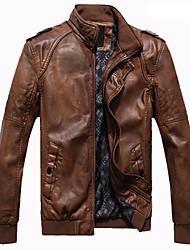 PAISIWANG elegante jaqueta de couro de lavar