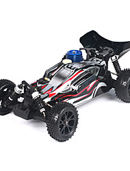Escala 1/10 RC Nitro Buggy Single Speed ​​(Blanco y Negro)