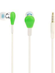Uldum estéreo de alta calidad en la oreja los auriculares con micrófono para iPod, iPhone, teléfono móvil