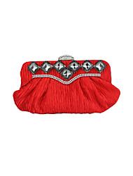 Fashion Silk With Austria Rhinestones Evening Handbags/ Clutches