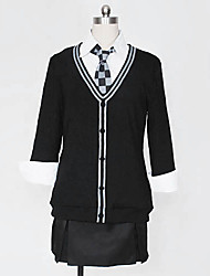 Inspired by Kantai Collection Cosplay Video Game Cosplay Costumes Cosplay Suits / School Uniforms Solid White / Blue Long SleeveBlouse /