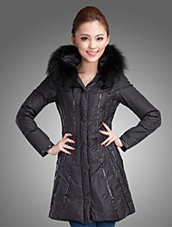 Women's Coats & Jackets , Feather/Polyester Casual/Work Lucas
