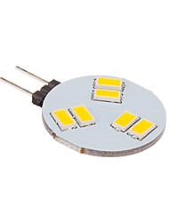 3W G4 Lâmpadas de Foco de LED 6 SMD 5630 260 lm Branco Quente DC 12 V