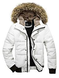 Power Man épais manteau de Hoodie rembourré (Blanc)