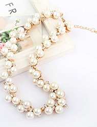Necklace Chain Necklaces Jewelry Gemstone & Crystal / Pearl / Alloy Party Gold 1pc Gift